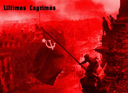 Sowjetflagge über dem Reichstag